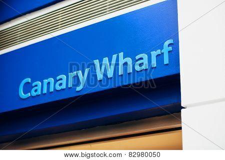 Canary Wharf Sign
