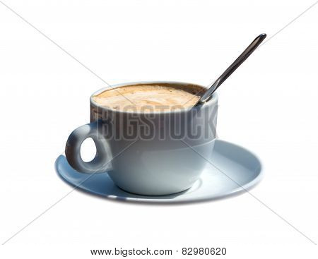 Coffee Cup With Spoon isolated