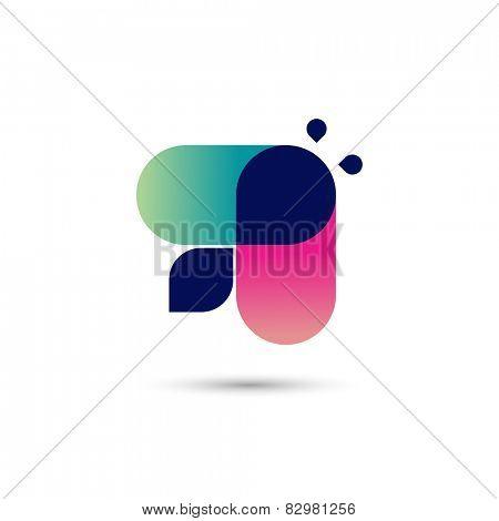 Busy bee symbol, vector illustration