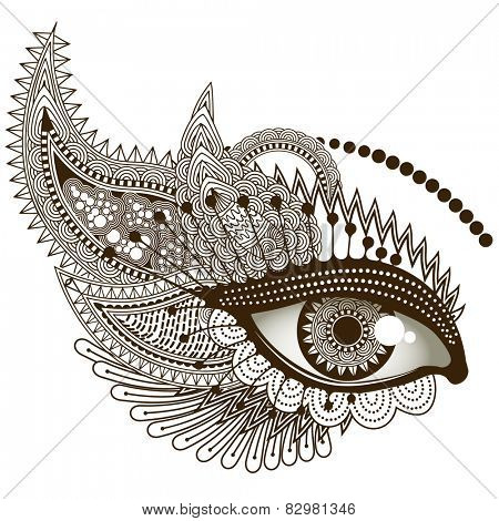 Eye, vector illustration