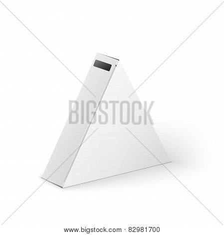 White Product Triangle Package Box Mock Up Template
