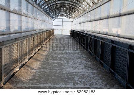 pedestrian bridge from the inside