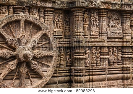 Carved Wheel at Konark