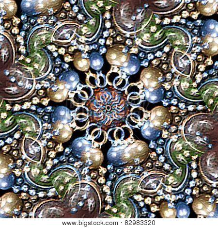 Multicolor Ornament Fancy Background