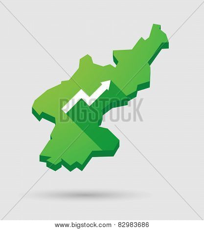 North Korea Map With A Graph