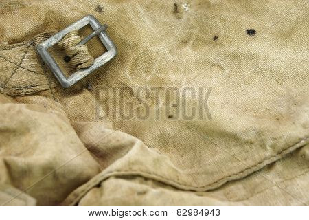 Weathered Military  Canvas Bag  Textured Background