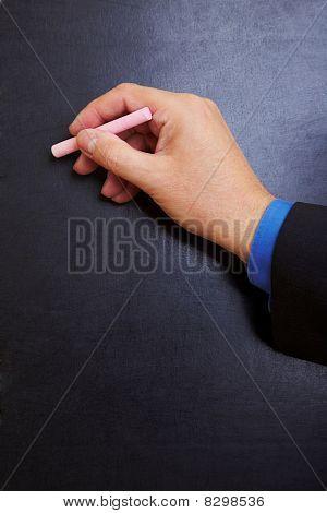 Escritura de mano en pizarra