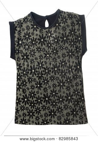 Black Women's Blouse With A Pattern.