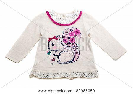 Children's Fancy Dress With Sequins Pattern Squirrel.