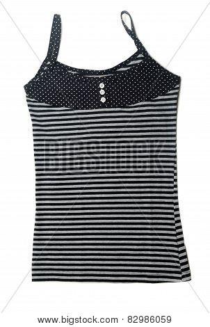 Gray Striped Shirt Female
