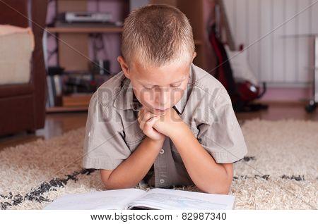 Boy Doing His Homework - Education