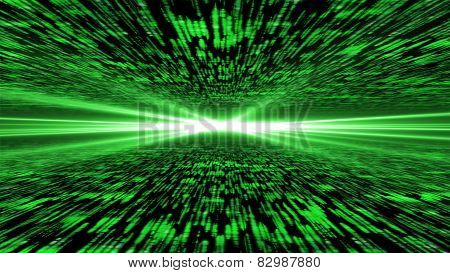 Matrix 3D - Flying Through Energized Cyberspace, Light On The Horizon