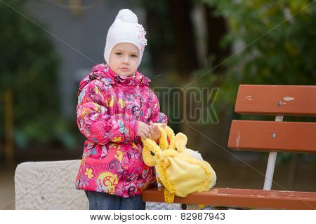 Upset Girl In Autumn Clothes Shops Costs About