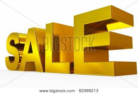 Sale Golden - 3D Letters Isolated On White