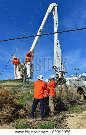 Setting Electrical Pole
