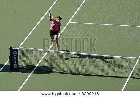 Woman playing tennis