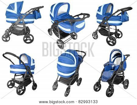 Baby Strollers Isolated