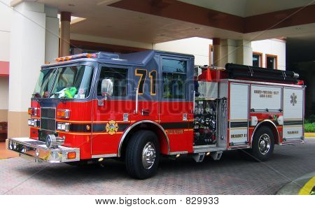 fire engine sideview