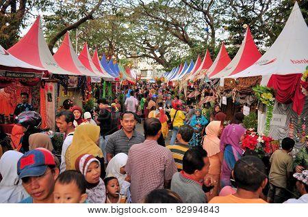 Market Stalls at Madura Bull Race, Indonesia