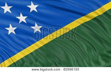 3D flag of Solomon Islands
