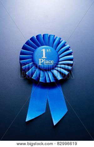 The Prize For Second Place On A Blue Background