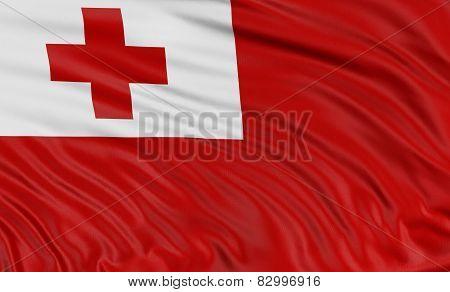 3D Tonga flag