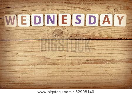 The word WEDNESDAY