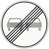 image of rear-end  - German traffic sign - JPG