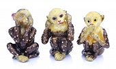 picture of buddhist  - Souvenir figurines of the three monkeys - JPG