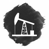 image of derrick  - Oil derrick icon - JPG