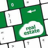 image of keyboard keys  - Real Estate concept - JPG