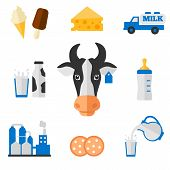 stock photo of dairy cattle  - Dairy products  - JPG