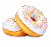 pic of donut  - Donuts isolated on white background - JPG