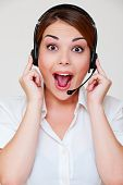 Surprised Telephone Operator