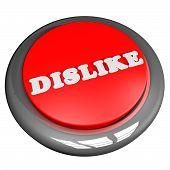 stock photo of dislike  - Dislike button isolated over white 3d render - JPG