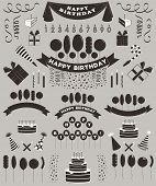 pic of birthday  - Vector birthday elements set - JPG