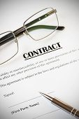 foto of contract  - Close up of a contract ready to be signed - JPG