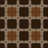 stock photo of cell block  - Mosaic tiles and brown seamless pattern cells - JPG