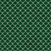 pic of interlock  - Green and White Shells with Interlocking Circles Tiles Pattern Repeat Background that is seamless and repeats - JPG