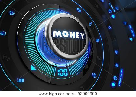 Money Controller on Black Control Console.