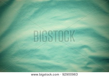 Turquoise Leather With Crumpled Grained Texture