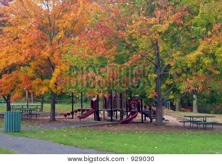 Playground In Autumn