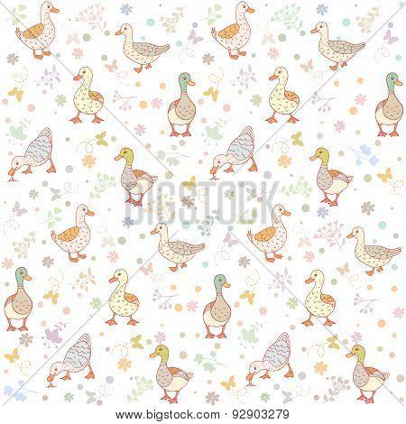 ducks seamless background