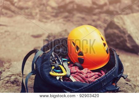 Set Of Equipment For Climbing