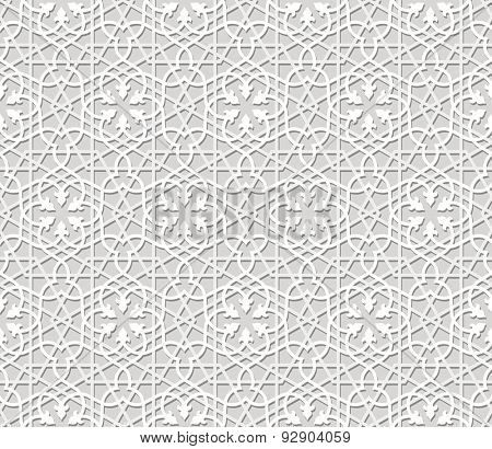 Seamless arabic pattern in paper style