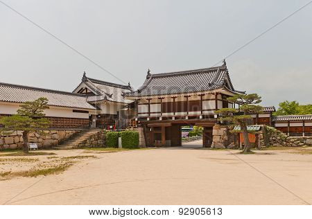 Ninomaru Omote Gate And Tamon Yagura Turret Of Hiroshima Castle