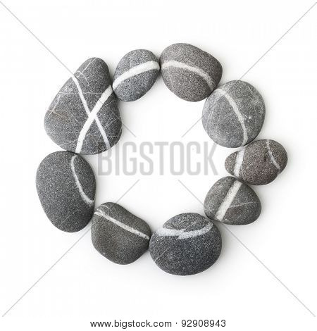 Stones isolated on white background