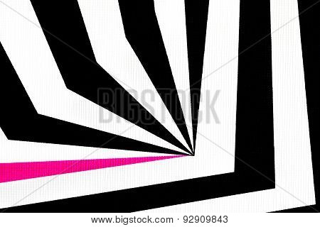 Black And White Abstract Regular Geometric Fabric Texture Background