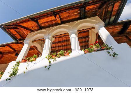 Balcony From The Old Orthodox Polovragi Monastery