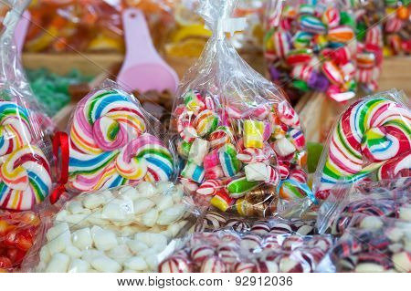 colorful candies and lolly pops
